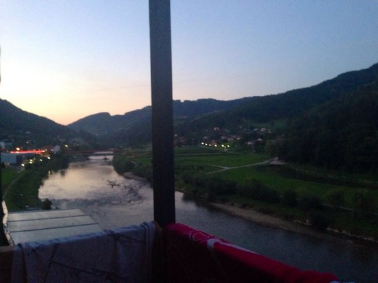 Hotel Thermana Park Lasko : View from the 3rd floor, river view