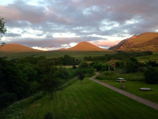 Corriechoille Lodge : View from bedroom 2 at sunset