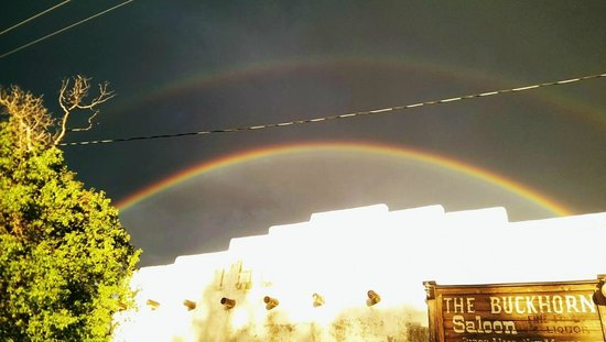 Buckhorn Saloon & Opera House: we saw double rainbows outside the restaurant !!