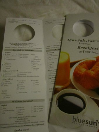Bluesun Hotel Elaphusa: This is how you order for your breakfast