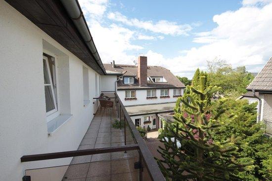 Romantik Hotel Fuchsbau: Blick vom Hotelbalkon