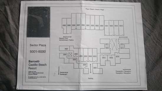 5000 rooms layout map Picture of Barcelo Castillo Beach Resort