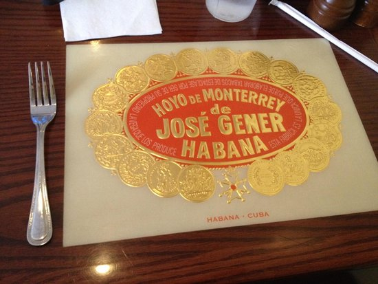 Havana Rumba St. Matthews: Cigar label from the tabletop