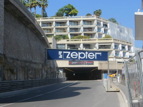 Fairmont Monte Carlo: The tunnel and the hotel