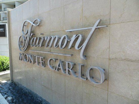 Fairmont Monte Carlo: The Fairmont sign