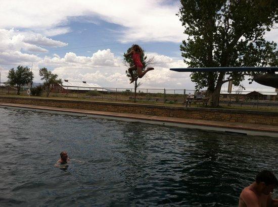 Balmorhea State Park: Big person diving board is fun!