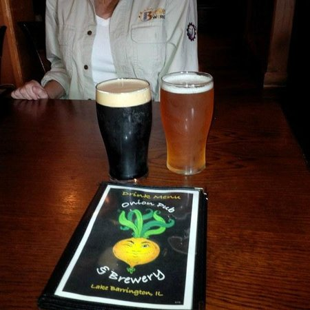 The Onion Pub & Brewery: Great Beer: Jack Stout and Phat Chance