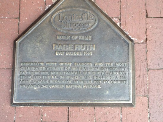 Louisville Slugger Museum & Factory : Babe Ruth plate on outside of building