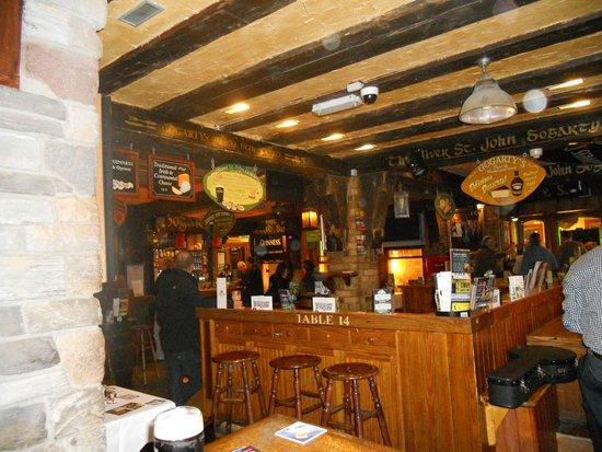 Oliver St. John Gogarty's Pub: Interior of pub