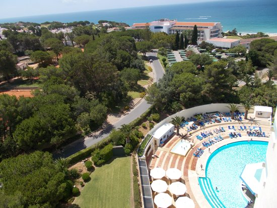 Pestana Delfim All Inclusive: view from room over pool to the sea