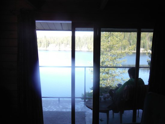 Idabel Lake Resort: View from inside looking out