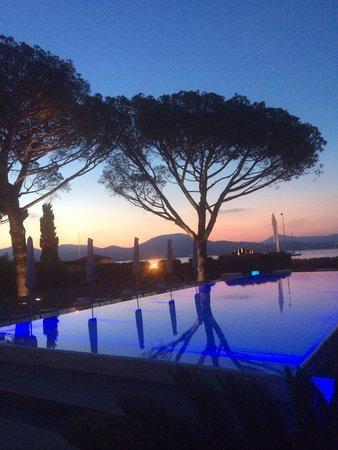 Kube Hotel-St Tropez : Coucher du soleil