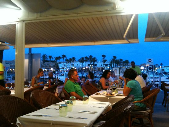 Bahia: View from our table across the harbour