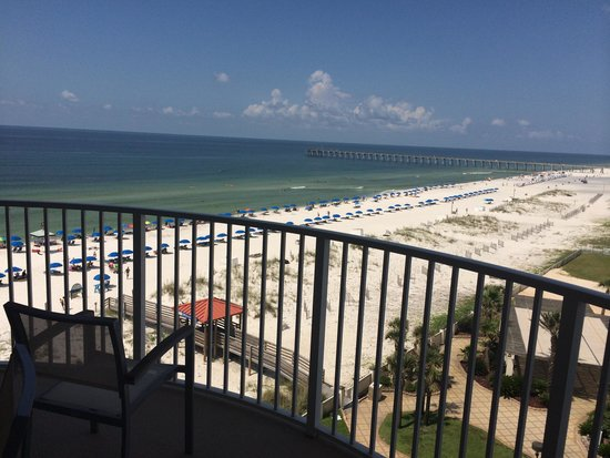 Hilton Pensacola Beach: View from 5th floor tower