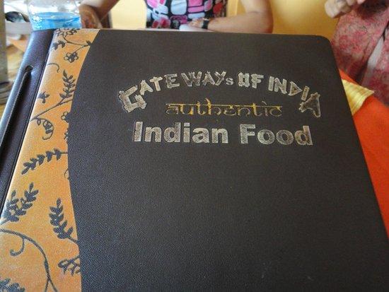 Gateway of India: Menu