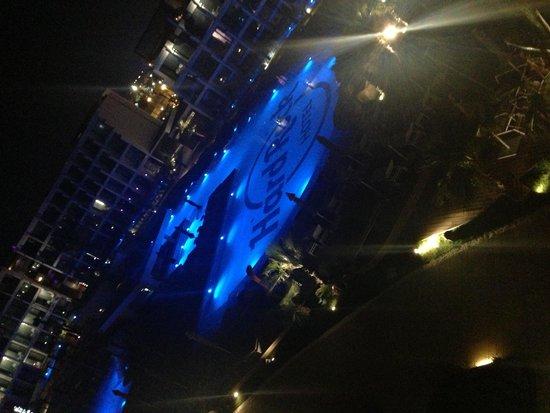 Hard Rock Hotel Ibiza: Pool view by night