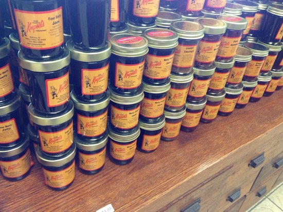 Koepsel's Farm Market: Jam, jellies and samples with animal crackers as the dipper
