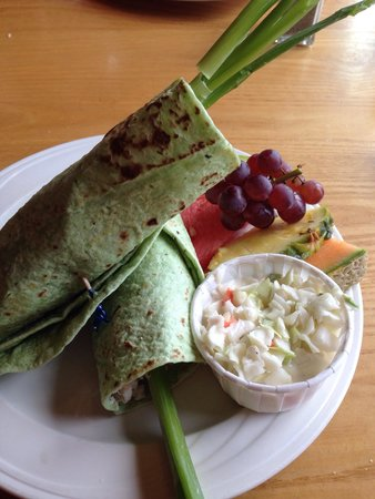 The Shoreline: Whitefish wrap... Good, but not worth a special trip (which I did)