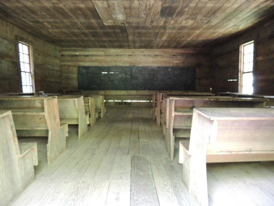 Little Greenbrier School: schoolroom