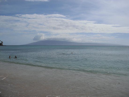 Sands of Kahana: view from the beach at the resort