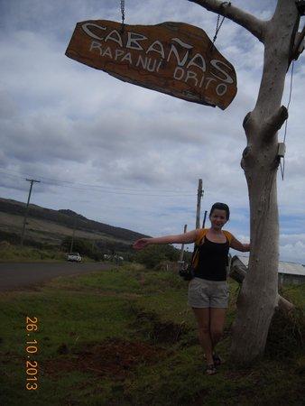 Cabanas Rapa Nui Orito : Entrada Rapa Nui Orito