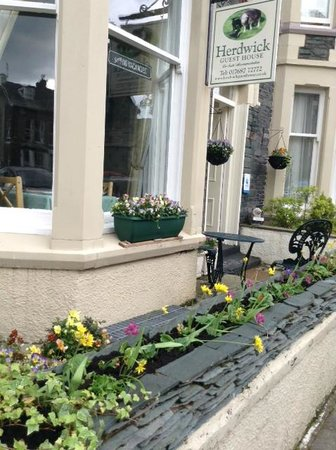 Herdwick Guest House: Beautiful flower boxes out front