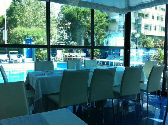 Hotel Giulietta: Il nostro tavolo angolo piscina