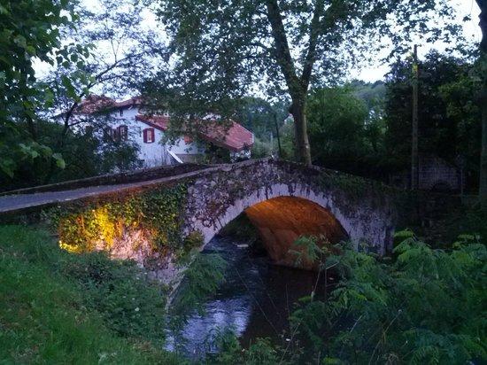 View to Maison Donamaria over Roman Bridge