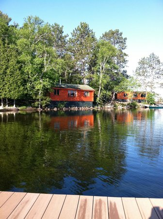 Burntside Lodge: Our cabin, taken from the dock at about 6:45 a.m.