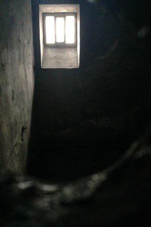 Kilmainham Gaol: view thru a peephole into one of the cells