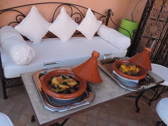 La Table Al Badia at Riad Al Badia: Tagines