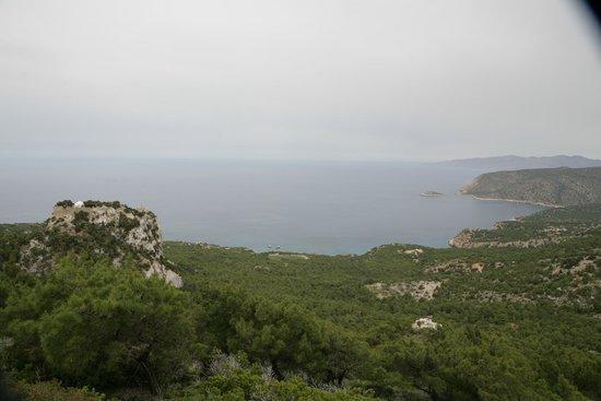 Monolithos Castle: View