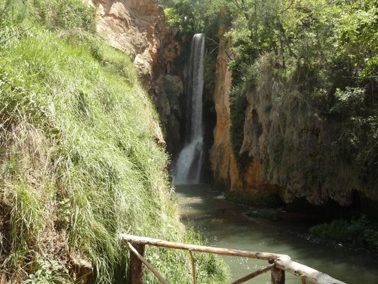 Monasterio de Piedra: Largest waterfall in the park - much bigger than this photo suggests