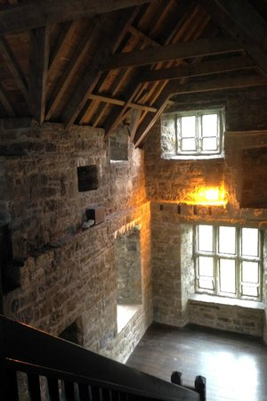 Donegal Castle: inside, on the way out of the self guided tour