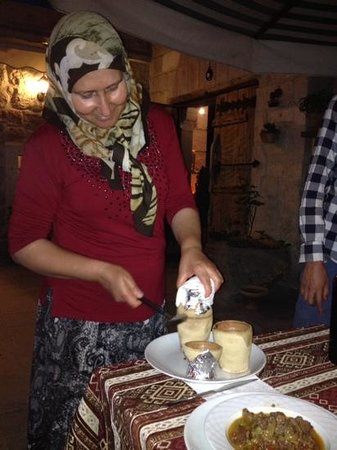 Safran Cave Hotel: delicious dinner 11.06.2014