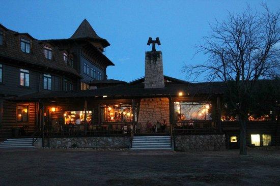 El Tovar at dusk - Picture of El Tovar Lodge Dining Room, Grand ...