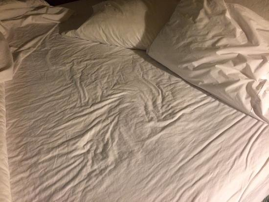 Hampton Inn Clearwater Central: sherts fely moist, dirty and looked like they were not changed