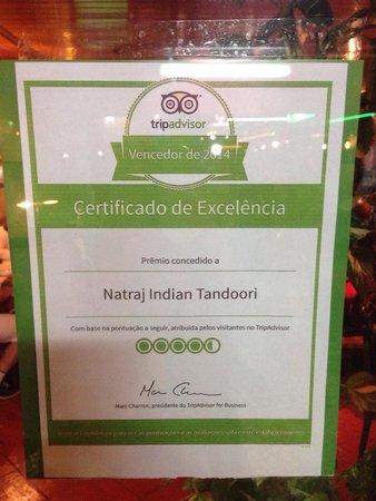 Natraj Indian Tandoori : Thank you Trip Advisor ... Just had an amazing meal ...