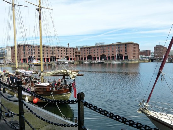 In the middle of Albert Dock