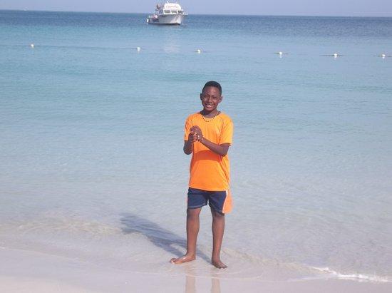Beaches Negril Resort & Spa : My son enjoying the ocean
