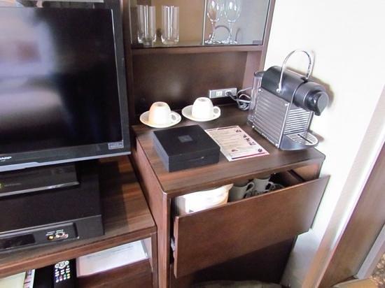 Shibuya Excel Hotel Tokyu: Nespresso and other amenities