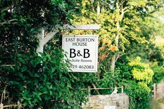 East Burton House: The sign outside