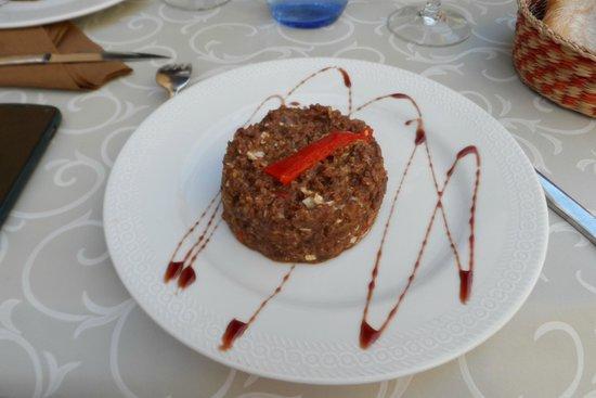 Zaguan : Primer plato: Revuelto de morcilla