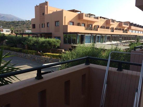 SENTIDO Vasia Resort & Spa : View from balcony to reception