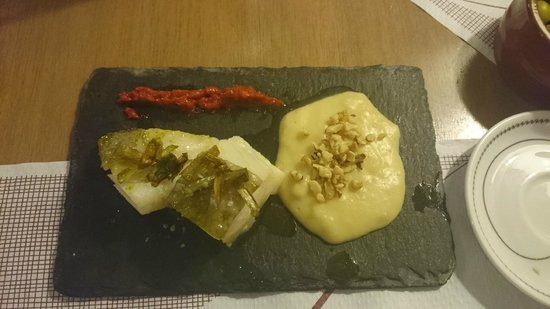 El Meson de Cervantes: Very tasty - Cod with leek and potato puree