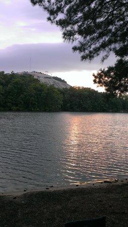 Stone Mountain Family Campground : sun setting