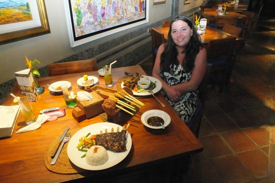 Bebek Tepi Sawah Villas & Spa: Dinner in the restaurant