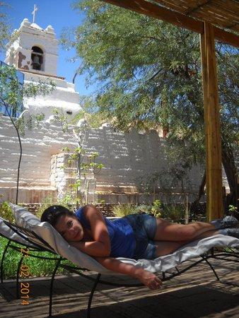 Lodge Andino Terrantai: Zona de descanso y lectura