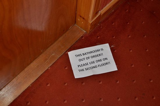 White Hart Hotel: Bad außer Betrieb