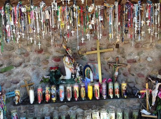 El Santuario de Chimayo: Candles and Crosses at Chimayo